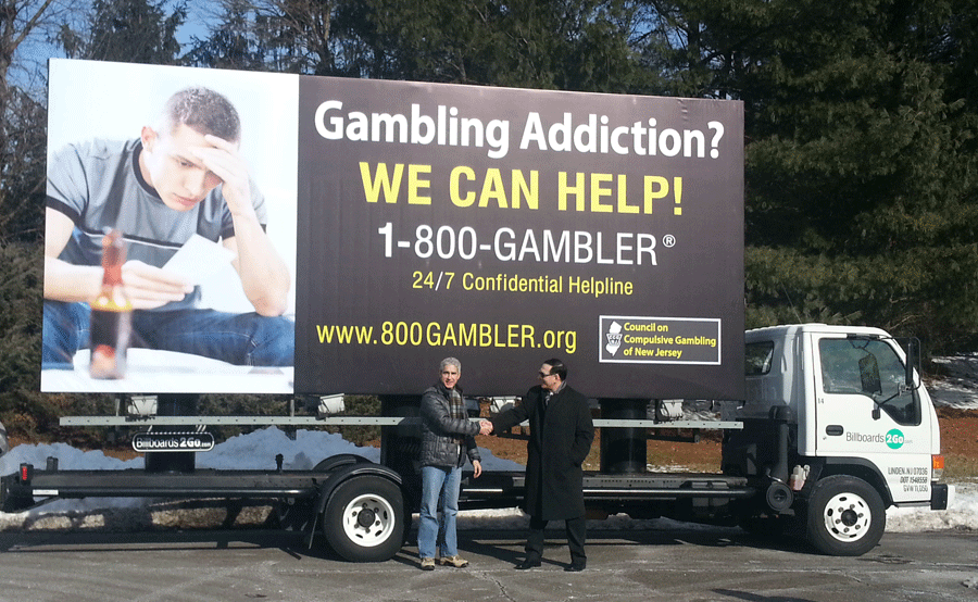 sports betting gambling problem billboard